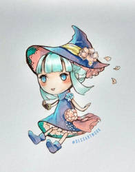 Cute chibi witch by DessartWorks