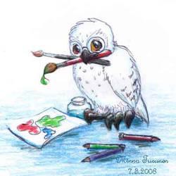 Goofy Owl - ID by Amarathimi