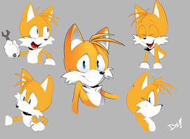 Tails Expressions sheet by DreddStar