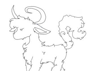 I drew a...goat? by sharkgirl101kkl