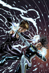 Ice Witch Vs. Electron by Abramelin