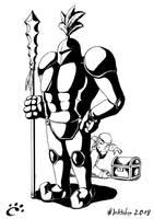 #Inktober2018 Drawing 13 - GUARDED Treasure by TrickyPhantom