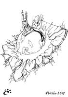 #Inktober Drawing 20 - BREAKABLE Ground by TrickyPhantom