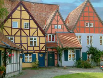 Old Town in Stralsund by Wirikos