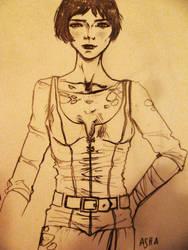 ASOIAF / Asha sketch by psychicyouth