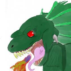 Dragon Sketch by Pyronic-Tiger