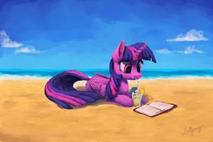 Beach Book by LolliponyBrony