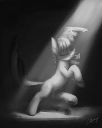 Her Moment (Grayscale) by LolliponyBrony