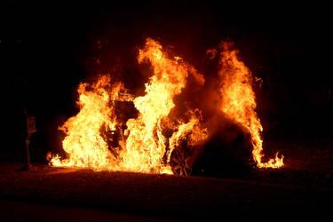 Car fire by UniqueNudes