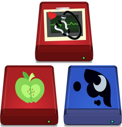 HDD Icons (BigMac and Luna ICO included) by Evilbob0