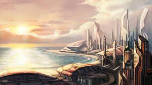 Seaside Metropolis by whatzitoya