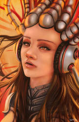 Cyber Girl by whatzitoya