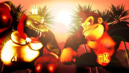 King K. Rool VS Donkey Kong by KalekronReborn