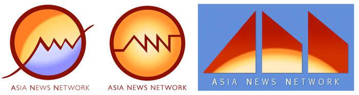 Asian News Network logo contest entries by mirisu92