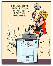 Thor has Printer Problems by mirisu92