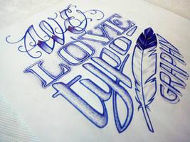 Love typography by anniecarter