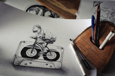 Music Biker by anniecarter