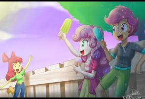 .:CMC's Day Off :. (Commission) by The-Butcher-X