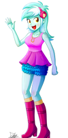 .:Lyra Heartstrings - EqG Style:. (Commission) by The-Butcher-X