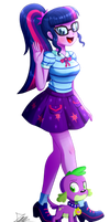 .:Twilight Sparkle - EqG Style:. (Commission) by The-Butcher-X
