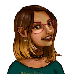 Self-portrait 2018 by MadocaArt