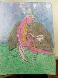 sad dragon by taull01