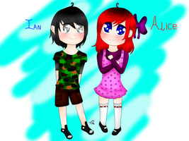 Ian y Alice by DivalovecdmXDTIME