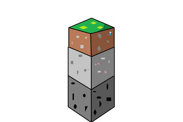 Minecraft Grass, Stone, and Coal, Remake by thefunny711