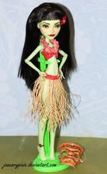 Tiki Hula Girl - Monster High Repaint by PixiePaints