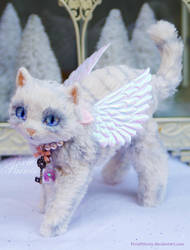 Angelica the Fairy Kitten - a poseable art doll by PixiePaints