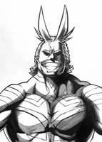 Inktober 1: All Might by nizmus