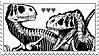 DINOSAURS stamp by homosocks