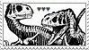 DINOSAURS stamp by homosocks