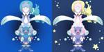 Popplio Evolution + Shiny by Mockingbyrd