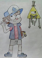 Dipper and Bill by PikachuYoshiPines164