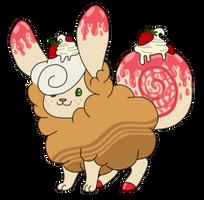 [Custom Gift] Flufferbun - Strawberry Cheesecake by SammichPup