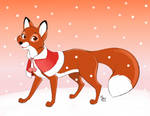 Merry Christmas from Vixey! - Mistrel-Fox by GerryAAB