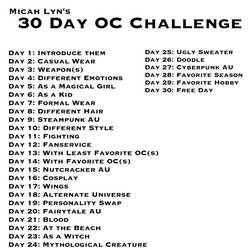 30 Day Oc Challenge by ODEEG