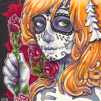 Dia de los Muertos Angel Portrait by shidonii