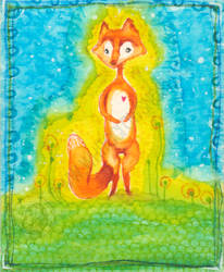 Fox ACEO by shidonii