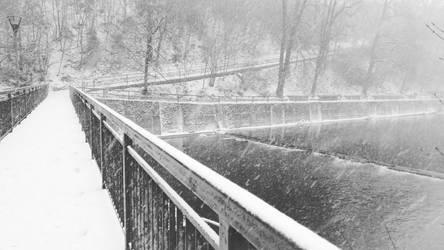 Winter  river by cxxj