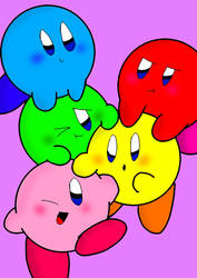 Five little puffballs by catycatkin
