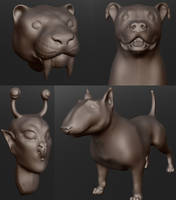 3D Commission Examples by CharReed