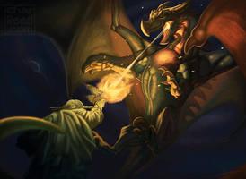 Kaiju vs Statue by CharReed