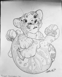 Pineapple Upsidedown Cat by CharReed