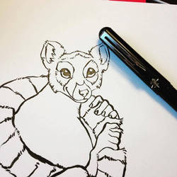 Lemur Inks for Colouring Book! by CharReed