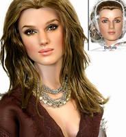 Doll Repaint - Keira Knightley by noeling