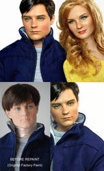 Doll Repaint - Tobey Maguire by noeling