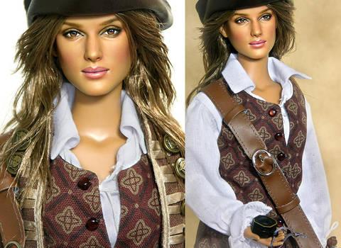 Doll Repaint - Elizabeth Swann by noeling