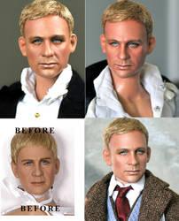 Doll Repaint - Daniel Craig by noeling